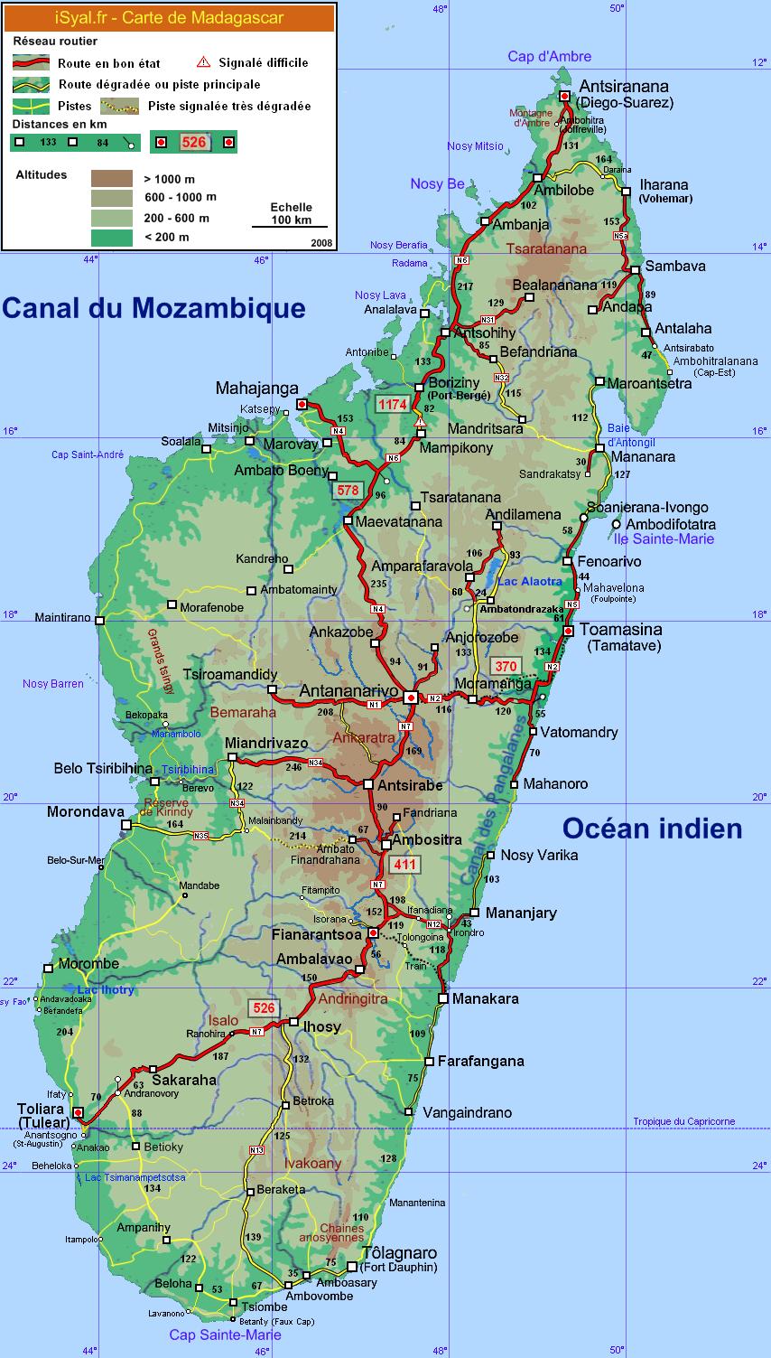 Madagascar Carte Détaillée | tonaartsenfotografie